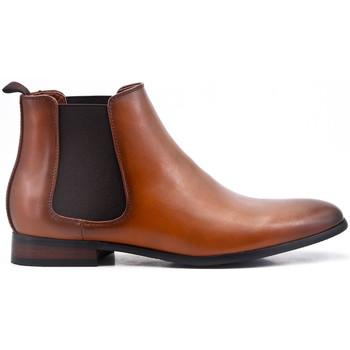 Chaussures Bottes ville Uomo Design Bottine Chelsea Carl Cognac