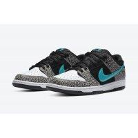 Chaussures Baskets basses Nike SB Dunk Low Atmos Elephant Medium Grey/Black/White/Clear Jade
