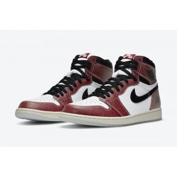 Chaussures Baskets montantes Nike Jordan 1 Tromphy Room White/Varsity Red-Sail-Black