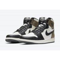 Chaussures Baskets montantes Nike Jordan 1 Dark Mocha Sail / Dark Mocha – Black – Black