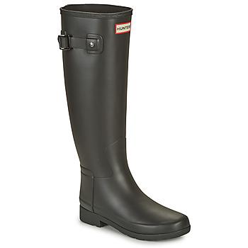 Chaussures Femme Bottes de pluie Hunter ORIGINAL REFINED Noir