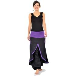 Vêtements Femme Pantalons fluides / Sarouels Fantazia Sarouel jupe epais Phinou Noir et violet