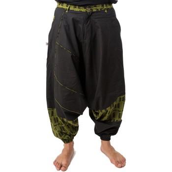 Vêtements Femme Pantalons fluides / Sarouels Fantazia Sarouel mixte ethnique Nehuda Noir et kaki
