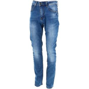 Vêtements Homme Jeans droit Giani 5 Leo gutti 1 jeans  703 Bleu marine / bleu nuit