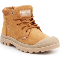 Chaussures Femme Baskets montantes Palladium Manufacture Pampa LO Cuff LEA 95561-717-M brązowy