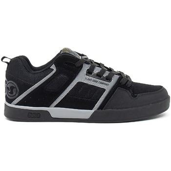 Chaussures Homme Chaussures de Skate DVS COMANCHE 2.0 black grey nubuk Noir