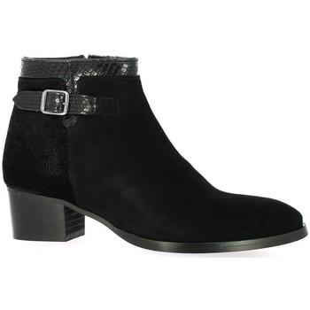 Chaussures Femme Boots So Send Boots cuir velours Noir