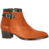 Chaussures Femme Boots So Send Boots cuir velours  rouille Rouille