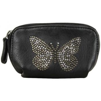 Sacs Femme Porte-monnaie A Découvrir ! Petit porte monnaie bourse Déco papillon strass Noir Multicolor
