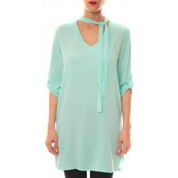 Vêtements Femme Robes courtes La Vitrine De La Mode Robe 156 By La Vitrine Aqua Bleu