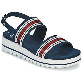 Chaussures Femme Sandales et Nu-pieds Jana STROMAELA Marine / Rouge / Blanc