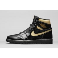 Chaussures Baskets montantes Nike Jordan 1 Black Metallic Gold Black/Black-Metallic Gold