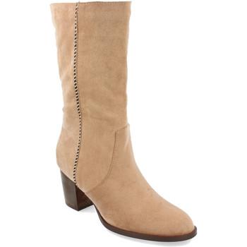 Chaussures Femme Bottes ville Buonarotti 1A-0462 Beige