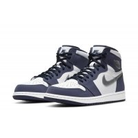 Chaussures Baskets montantes Nike Air Jordan 1 Og JP Midnight  White/Midnight Navy-Metallic Silver