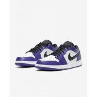 Chaussures Baskets basses Nike Air Jordan 1 Low Court Purple Court Purple/White-Black