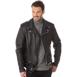 Vêtements Homme Vestes en cuir / synthétiques Schott 118L BLACK Noir