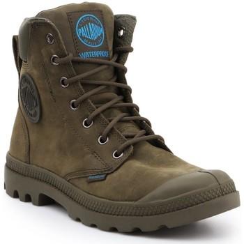 Chaussures Baskets montantes Palladium Manufacture Pampa Cuff WP LUX 73231309 oliwkowozielony