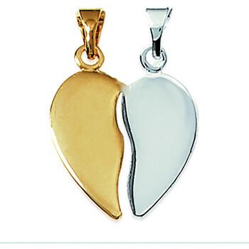 Montres & Bijoux Femme Pendentifs Brillaxis Pendentif  coeur secable bicolore Multicolore