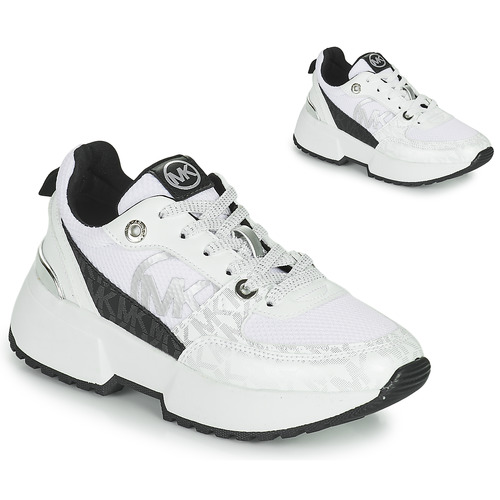 Chaussures Fille Baskets basses MICHAEL Michael Kors COSMO SPORT Blanc / Noir
