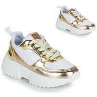 Chaussures Fille Baskets basses MICHAEL Michael Kors COSMO SPORT Blanc / Doré