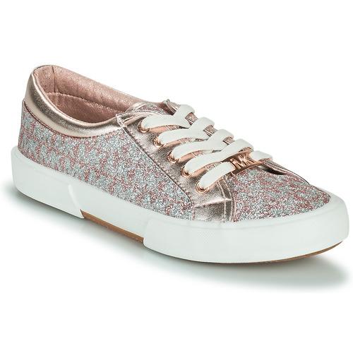 Chaussures Fille Baskets basses MICHAEL Michael Kors IMA TINSEL Rose Gold / Argenté