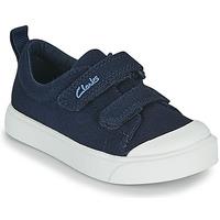 Chaussures Enfant Baskets basses Clarks CITY BRIGHT T Marine