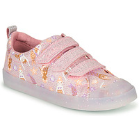 Chaussures Fille Baskets basses Clarks FOXING PRINT T Rose