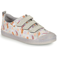 Chaussures Fille Baskets basses Clarks FOXING PRINT T Argent