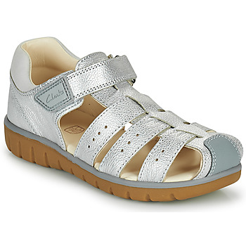 Chaussures Fille Sandales et Nu-pieds Clarks ROAM BAY K Argent