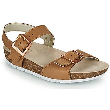 Chaussures Enfant Sandales et Nu-pieds Clarks RIVER SAND K Camel