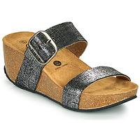 Chaussures Femme Mules Plakton SO ROCK Noir métalisé