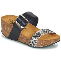 Chaussures Femme Mules Plakton SO ROCK Bleu / Leopard
