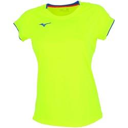 Vêtements Femme T-shirts manches courtes Mizuno Core sleevee tee  jaune fluo sport Jaune fluorescent