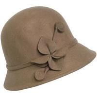 Accessoires textile Femme Chapeaux Chapeau-Tendance Chapeau fleur de lys Marron camel