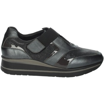 Chaussures Femme Slip ons Riposella IC-20 Gris anthracite