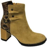 Chaussures Femme Bottines Softwaves Bottines moutarde 7.30.44 Moutarde
