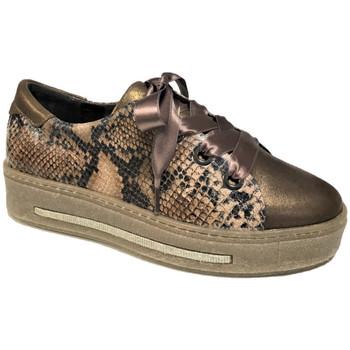 Chaussures Femme Baskets basses Softwaves 7.55.44. Sneakers cognac Cognac