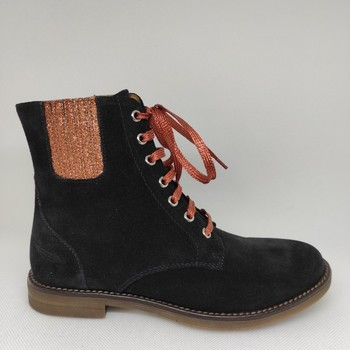 Chaussures Fille Bottes Adolie GINZA NEW BROGUE bleu