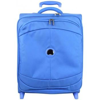 Sacs Valises Souples Delsey Trolley cabine  2 roues U-Light TSA 55 cm Bleu Multicolor