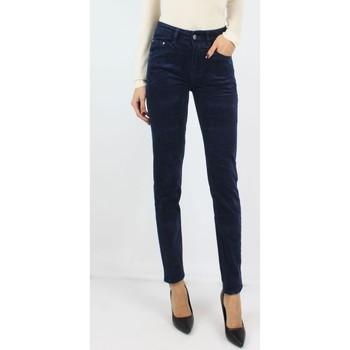 Vêtements Femme Chinos / Carrots Kebello pantalon en velours Taille : F Bleu S Bleu