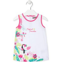 Vêtements Fille Robes courtes Losan 018-7005AL Blanc