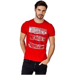 Vêtements Homme T-shirts manches courtes Guess T-Shirt Homme M83I18 RIPPED Rouge (rft) Rouge