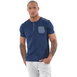 Vêtements Homme T-shirts manches courtes Kaporal Tee-Shirt Homme Libai Bleu Bleu