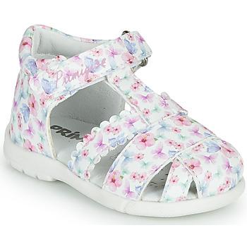 Chaussures Fille Sandales et Nu-pieds Primigi NOEMIE Blanc / Multicolore