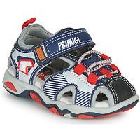 Chaussures Garçon Sandales sport Primigi HIMAN Gris / Bleu / Rouge