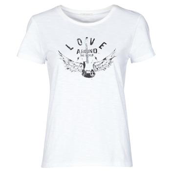 Vêtements Femme T-shirts manches courtes Ikks TROPEEZ Ecru