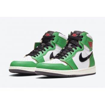 Chaussures Baskets montantes Nike Air Jordan 1 Lucky Green  Lucky Green/White-Sail-Black