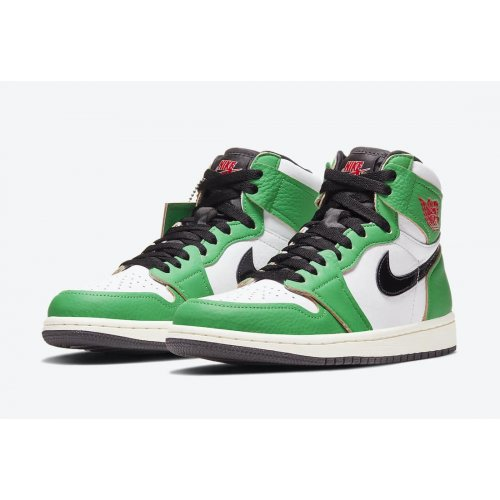 Nike Air Jordan 1 Lucky Green Lucky Green/White-Sail-Black ...