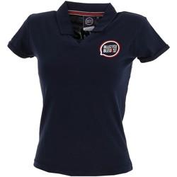 Vêtements Femme Polos manches courtes Allez Les Bleus lady polo france Bleu marine / bleu nuit