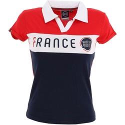 Vêtements Femme Polos manches courtes Allez Les Bleus lady polo france Rouge